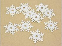 Filc - Csillagos hópihe fehér 5cm 10db/csomag