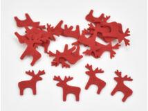 Filc - Szarvas piros 3cm 20db/csomag