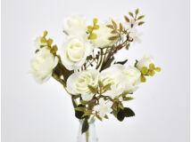 5 ágú rózsabimbó csokor fehér