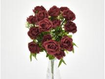 7 ágú mini rózsa csokor bordó