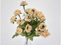 7 ágú mini rózsa csokor púder