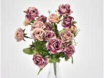 7 ágú mini rózsa csokor rózsaszín-púder