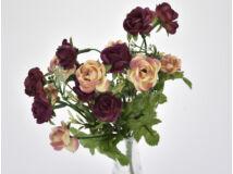 7 ágú mini rózsa csokor padlizsán - barack