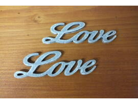 Love felirat szürke 2db/csomag