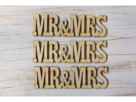 "Natúr fa - ""MR&MRS"" felirat 3db/csomag"