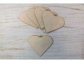 Fa rustique szív 5db/csomag