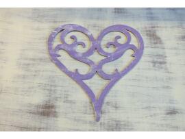 Vintage szív koptatott lila