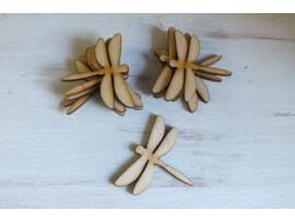 Natúr fa szitakötő 6cm 10db/csomag