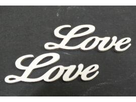 Fa Love felirat fehér 8cm 2db/csomag