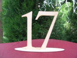 Natúr fa Asztalszám 17-es