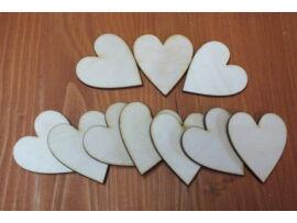 Natúr szív 10db/csomag