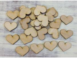 Romantik szív 3cm 30db/csomag