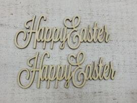 "Natúr fa - ""Happy Easter"" felirat 15cm 2db/csomag"