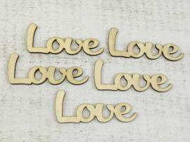 "Natúr fa - ""Love"" felirat 9,5cm 5db/csomag"