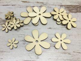 Fa virág különböző méretek 15db/csomag