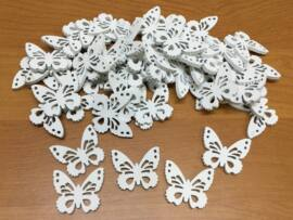 Fa pillangó fehér 3cm 50db/csomag