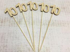 Évfordulós számok pálcikán 10-es 5db/csomag
