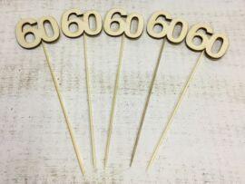 Évfordulós számok pálcikán 60-as 5db/csomag