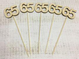 Évfordulós számok pálcikán 65-ös 5db/csomag