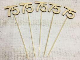 Évfordulós számok pálcikán 75-ös 5db/csomag