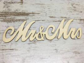 """Natúr fa - """"Mrs & Mrs"""" írott 30cm"""