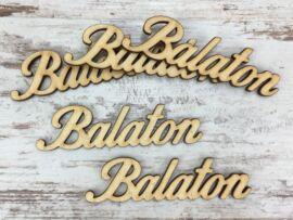 """Natúr fa - """"Balaton"""" felirat 9,5cm 5db/csomag"""