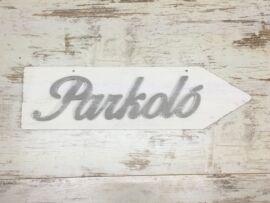 """""""Parkoló"""" nyíl jobb 50cm fehér"""