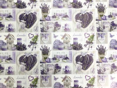 Csomagolópapír - Lavender & Vessző szív 5db/csomag