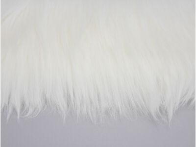 Prémium műszőrme fehér 60cm x 1,8méter - OKOS ÁR!