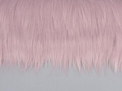 Prémium műszőrme rózsaszín 60cm x 1,8méter - OKOS ÁR!