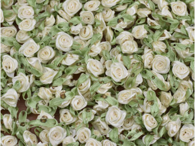 Szatén rózsafejek fehér 950db/csomag - OKOS ÁR!