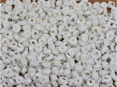 Szatén rózsafejek levél nélkül fehér 450db/cs - OKOSÁR