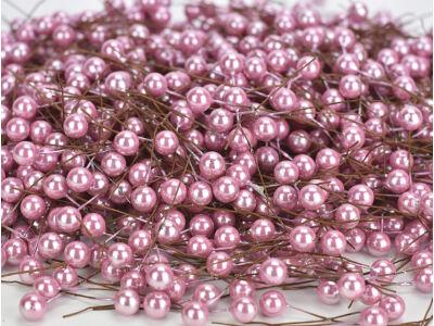 Drótos bogyó gyöngyház rózsaszín 4000db/cs OKOS ÁR!