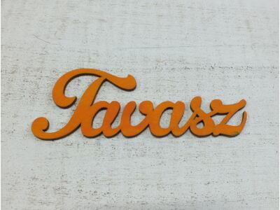 Fa Tavasz felirat narancs 15cm