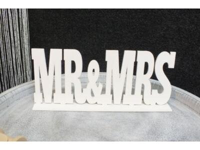 """""""Mr & Mrs"""" felirat talppal fehér 25cm"""