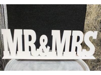 """""""Mr & Mrs"""" felirat talppal fehér 50cm"""