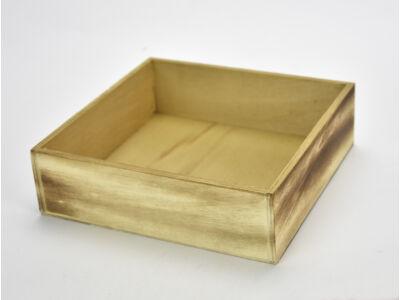 Dekotál rusztikus négyzet 20x20cm, mag:6cm