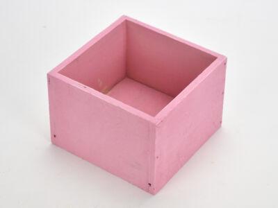 Dekoláda pink kocka 11x11cm, mag:8cm