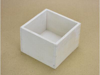 Dekoláda fehér kocka 11x11cm, mag:8cm