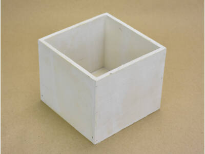 Dekoláda fehér kocka 13x13cm, mag:11cm