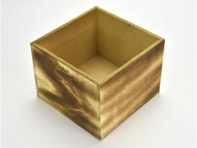 Dekoláda rusztikus kocka 16x16cm, mag:12cm