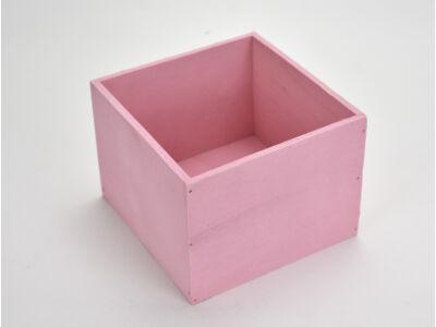 Dekoláda pink kocka 16x16cm, mag:12cm