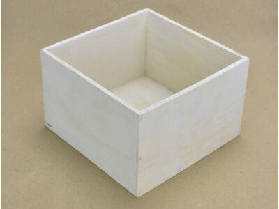 Dekoláda fehér kocka 20x20cm, mag:13cm