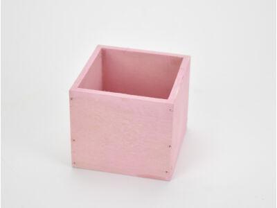 Dekoláda pink kocka 9x9cm, mag:8cm