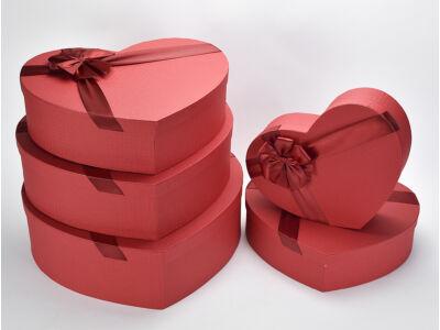 Óriás szív doboz szett piros 5db/szett