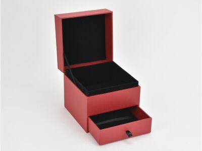 Fiókos doboz  kocka piros