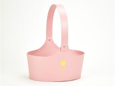 Papír virágtartó táska rózsaszín