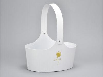 Papír virágtartó táska fehér