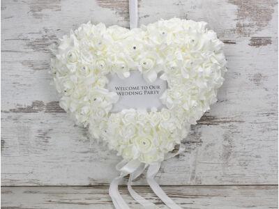 Esküvői üdvözlő szív