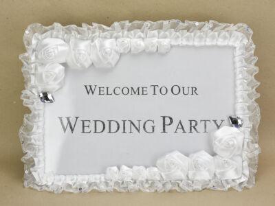 Esküvői üdvözlő tábla
